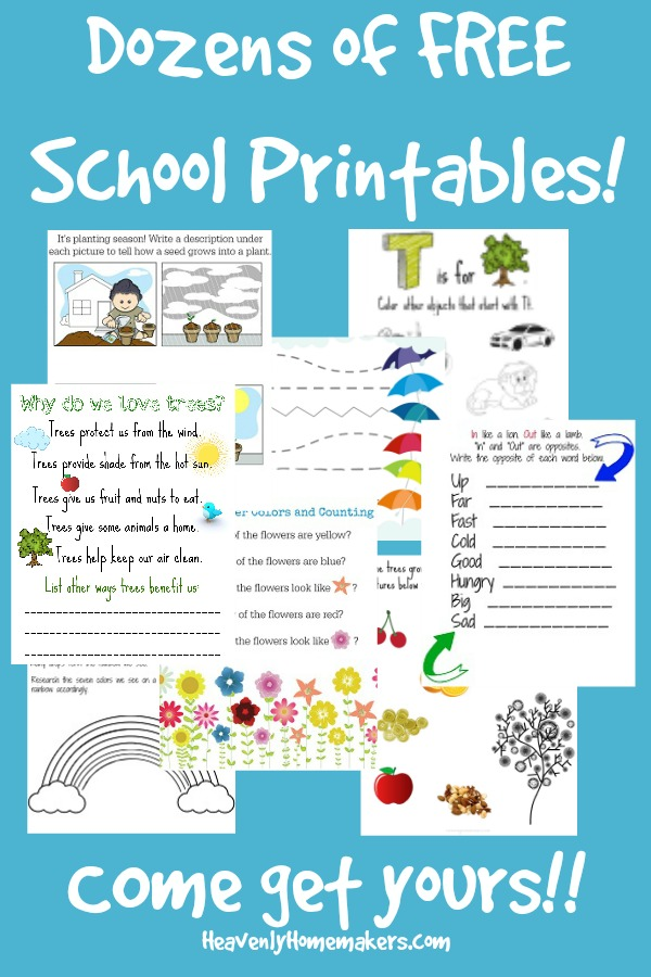 Dozens of FREE School Printables