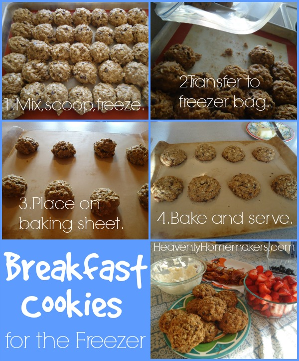 Breakfast Cookies for the Freezer