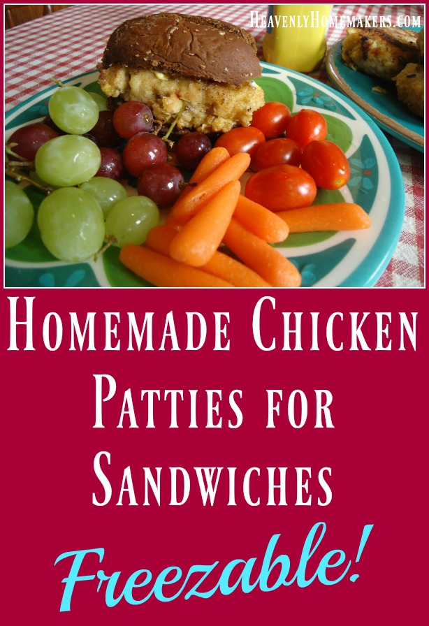 Homemade Chicken Patties for Sandwiches - Freezable