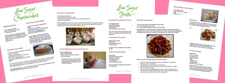Low Sugar Treats Page Samples