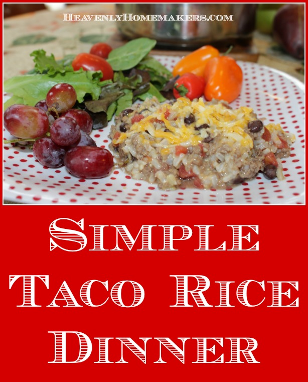 Simple Taco Rice Dinner
