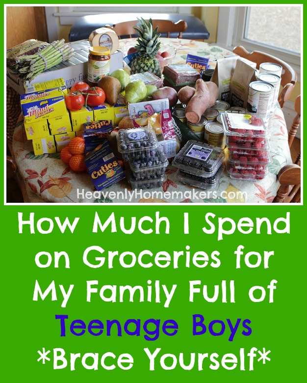 How Much I Spend on Groceries for My Family Full of Teenage Boys