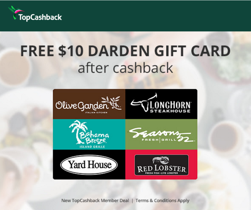 top cash back restaurant freebie2