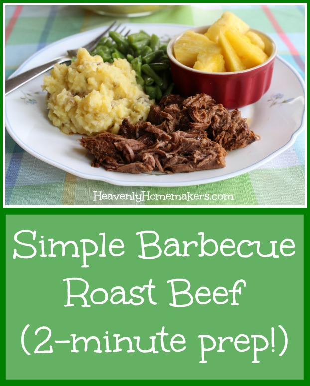 Simple Barbecue Roast Beef