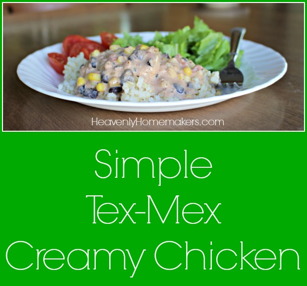 Simple Tex-Mex Creamy Chicken