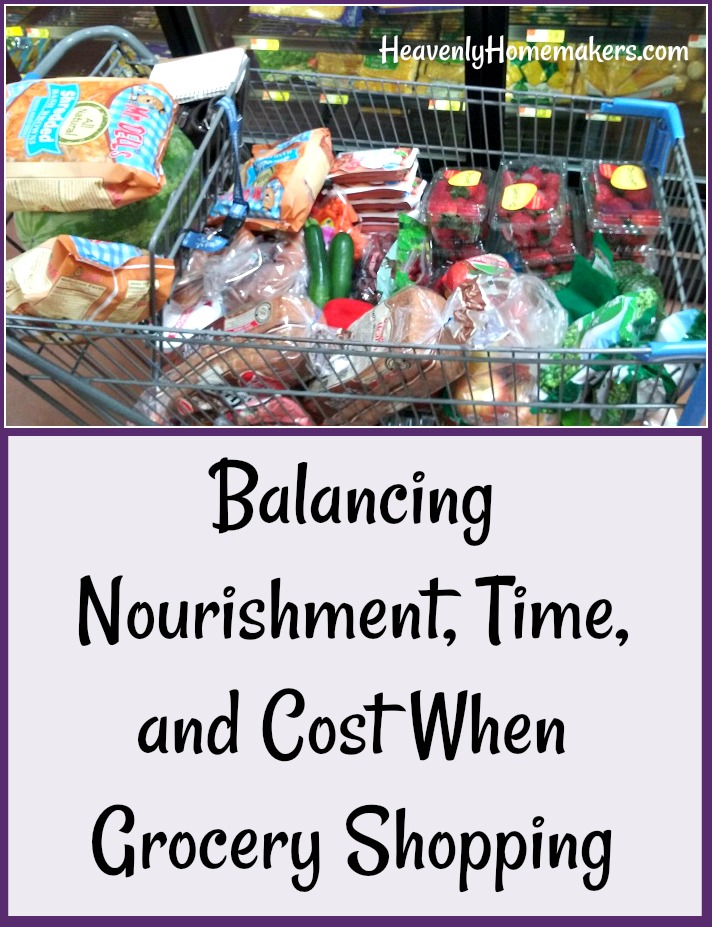 Balancing Nourishment, Time, and Cost When Grocery Shopping