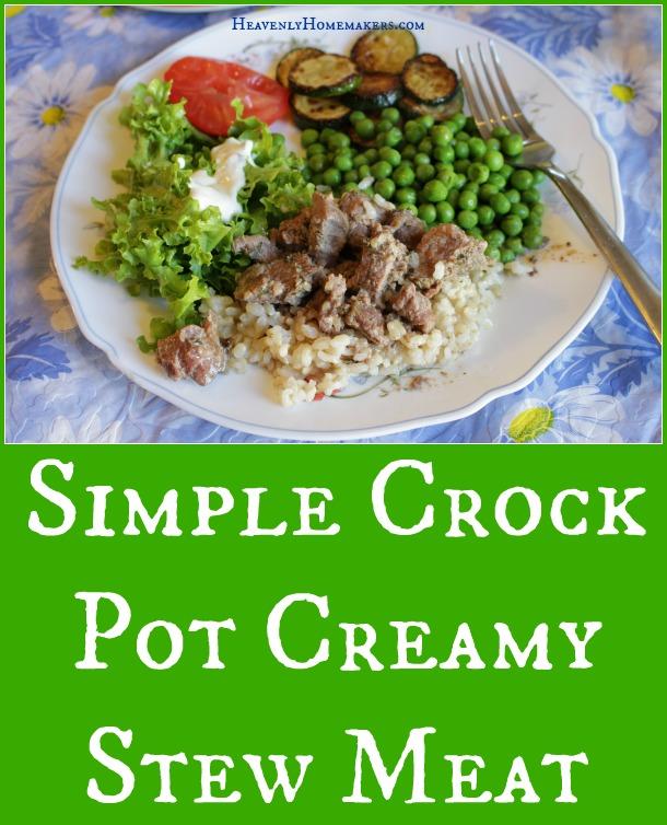 Simple Crock Pot Creamy Stew Meat