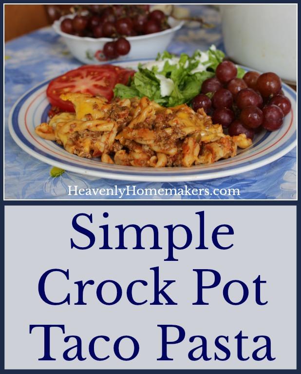 Simple Crock Pot Taco Pasta