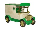 vintage toy truck isolated in white background with clipping path.