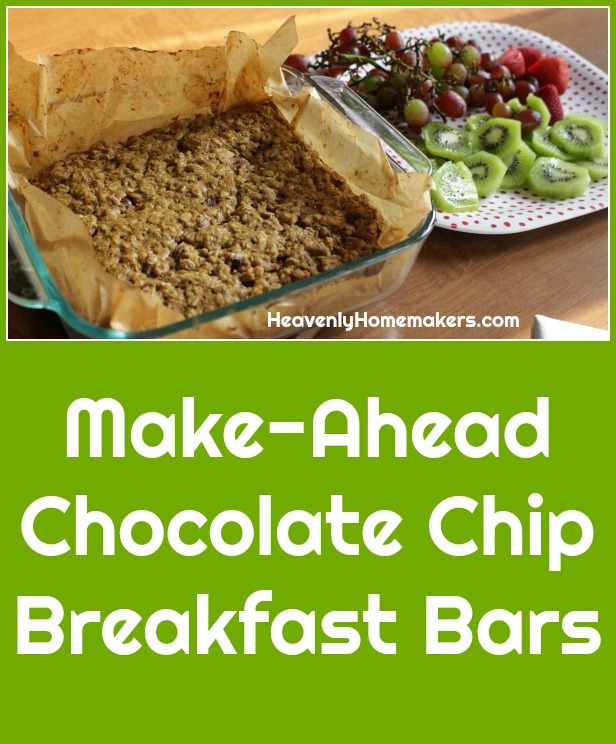 Make-Ahead Chocolate Chip Breakfast Bars