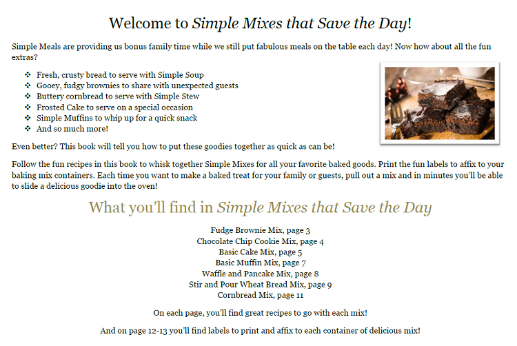 simple mixes intro page