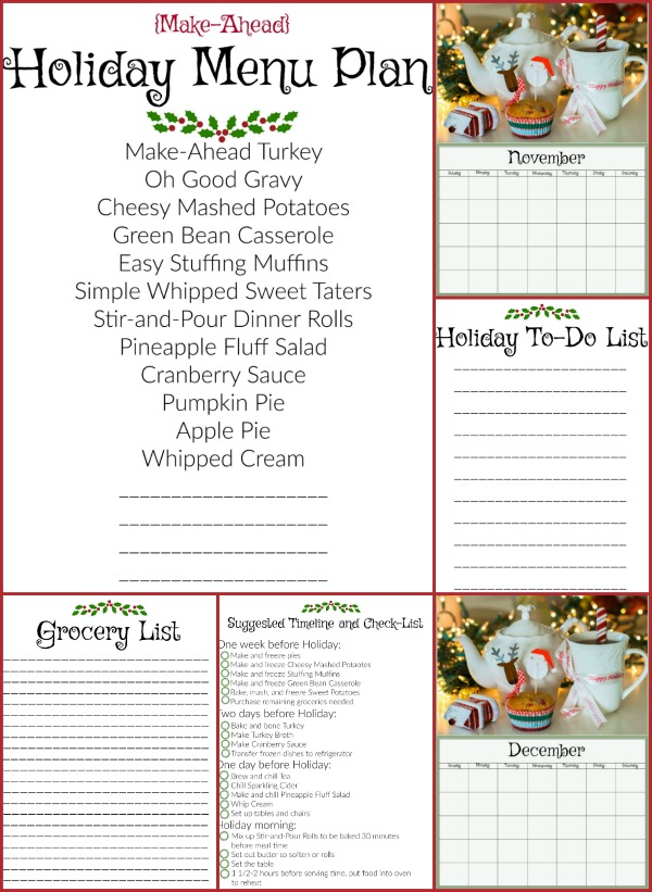 Make Ahead Holiday Sample