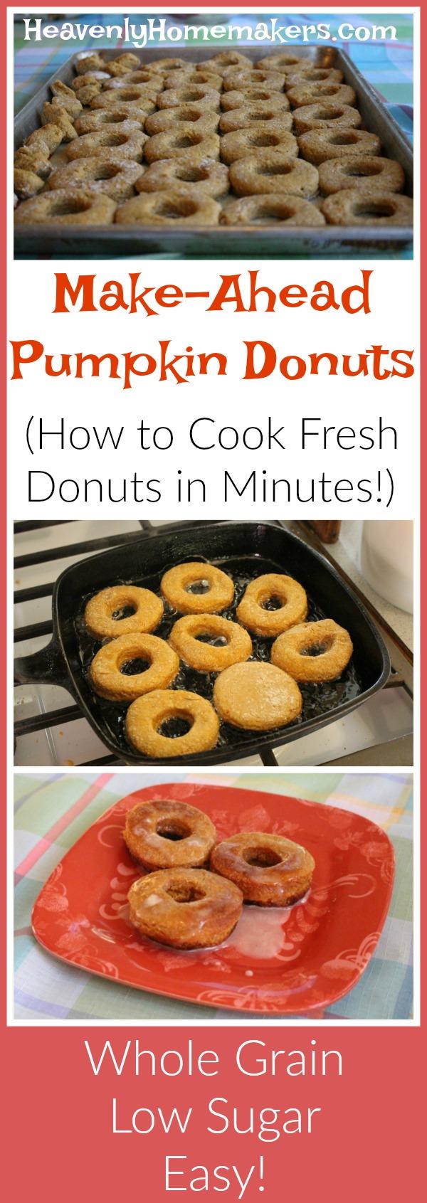 Make-Ahead Pumpkin Donuts (Whole Grain, Low Sugar, Easy!)