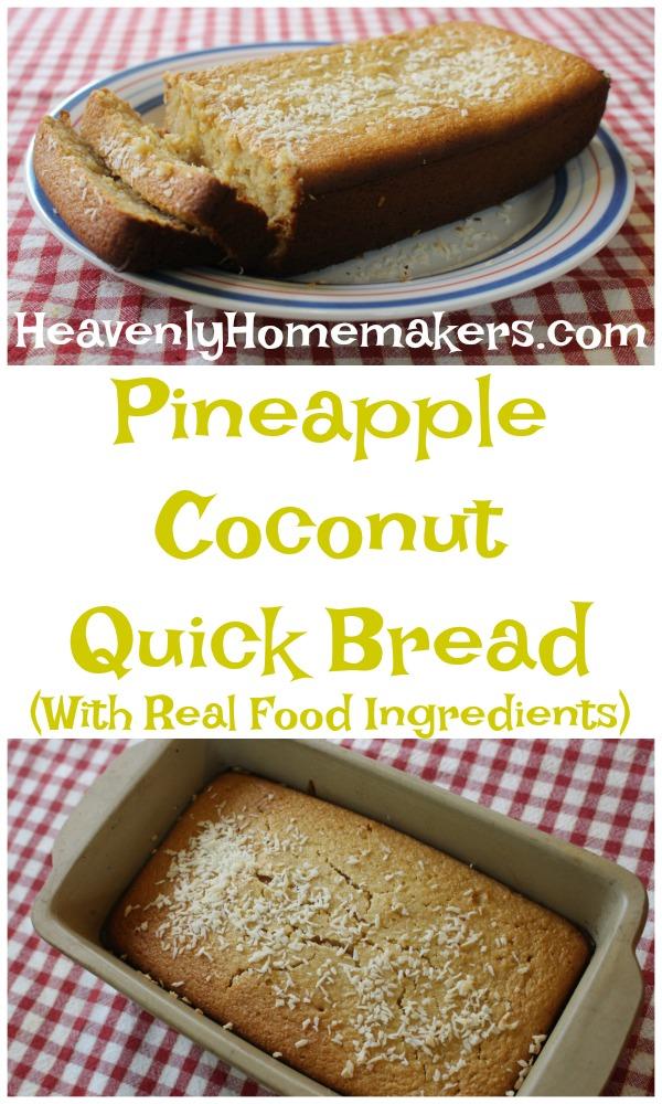 Pineapple Coconut Quick Bread