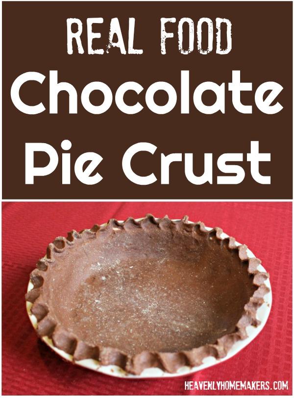 Real Food Chocolate Pie Crust