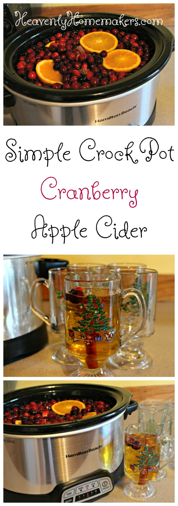 Simple Crock Pot Cranberry Apple Cider