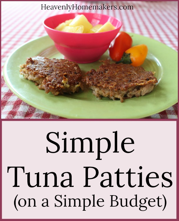 Simple Tuna Patties on a Simple Budget