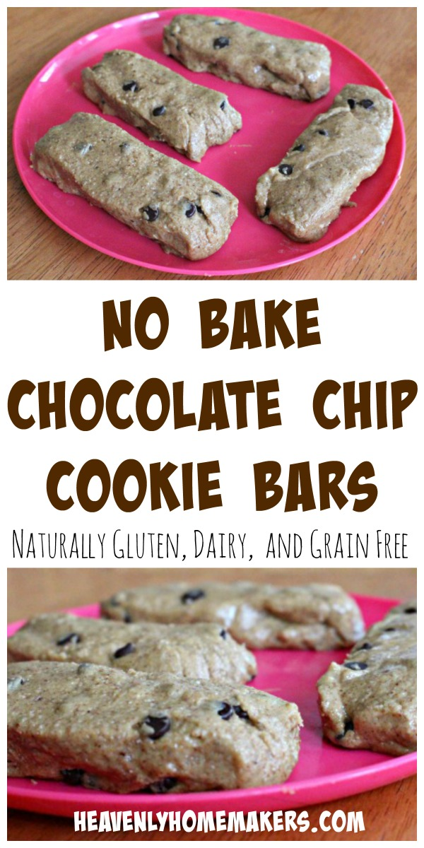 No Bake Chocolate Chip Cookie Bars