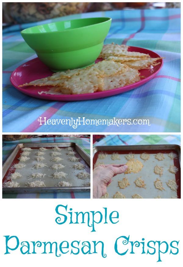 Simple Parmesan Crisps