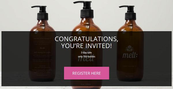 melt massage register