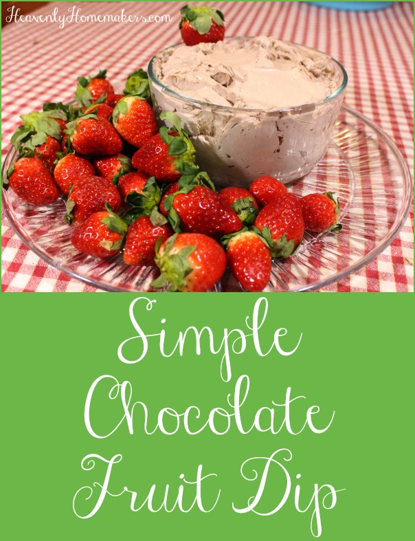 Simple Chocolate Fruit Dip