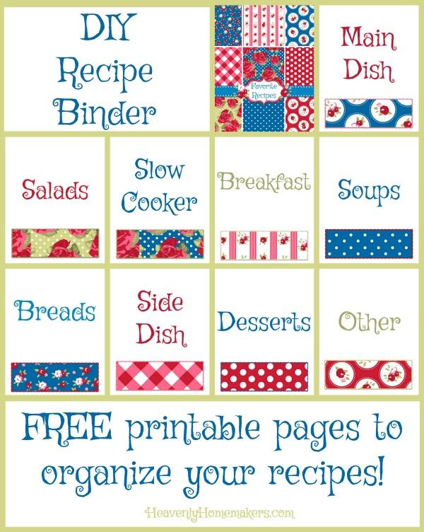 DIY Recipe Binder - Free Printables