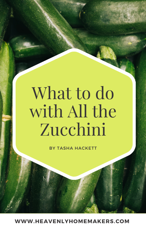 what to do with all the zucchini